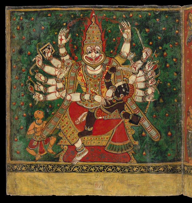 Sri Narasimha, the half-human half-lion incarnation of Vishnu